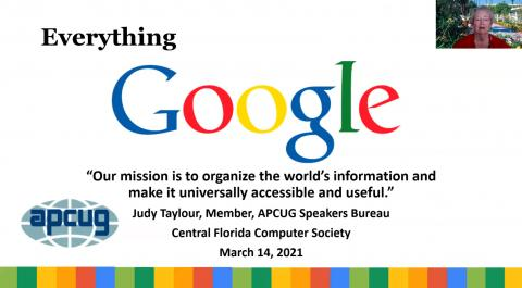 Everything Google Presentation by Judy Taylour